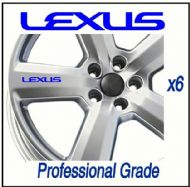LEXUS CAR WHEEL DECALS